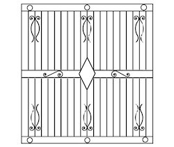 Window grills window grill manufacturers suppliers for Window grill design catalogue 2016