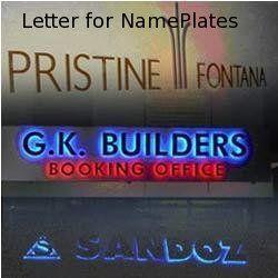 Mettalic Letter for Nameplates