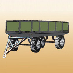 4 wheeled turnstyle box trailer rear drop down cap4to10