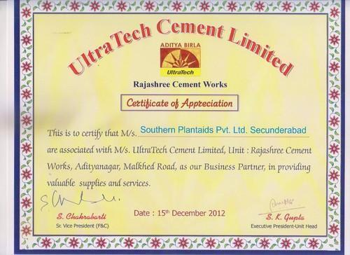 Ultra Tech Cement In Bangalore : Southern plantaids private limited wholesaler from