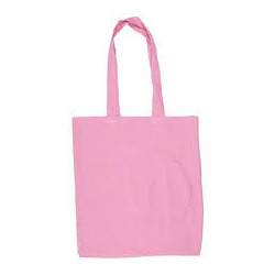 Cute Pink Cotton Bags With Long Handle