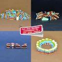 Multicolor Layered Pebbel Handmade Resin Beads