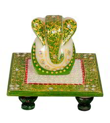 Marble Ganesha with Choki