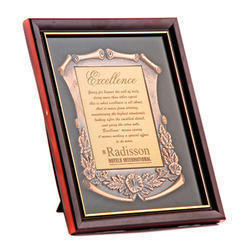 Framed Certificate Plaque