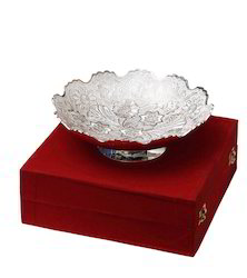 Silver Plated Bowl with Velvet Box