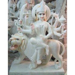 White Marble Durga Statues