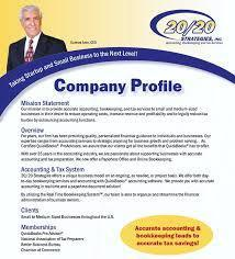 Preparation Of Company Profiles Service  Company Business Profile