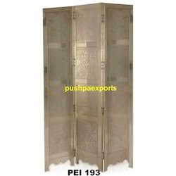 white metal screen partition