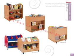 Trolley Picture Rack Kinder Boxes / Primary Mobile Book Unit