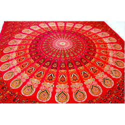 Katha Work Cotton Double Bed Sheets
