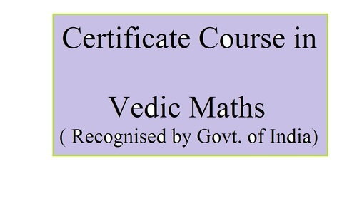 Vedic Maths Certificate Course In For Teachers And. Certificate Course In Vedic Maths For Teachers And Elders. Worksheet. Vedic Math Worksheets At Clickcart.co