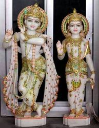 Marble Radha with Beautiful Painting