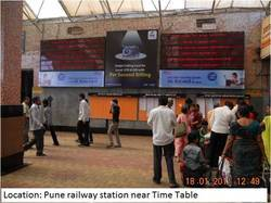pune railway station advertisement