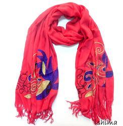 Printed Embroidered Scarves