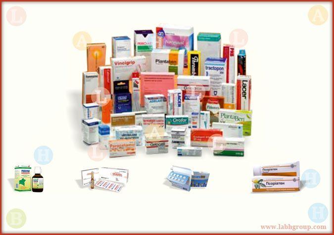 Printed Folding Carton Box for Pharmaceuticals