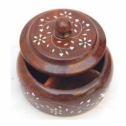 Wooden Salt Bowl