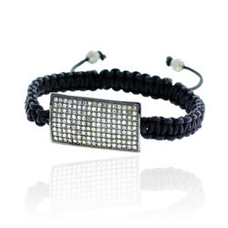 Diamond Charm Macrame Bracelet