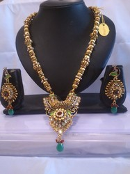 Polki Long Pendent Necklaces