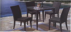 Outdoor Rattan Table and Chair