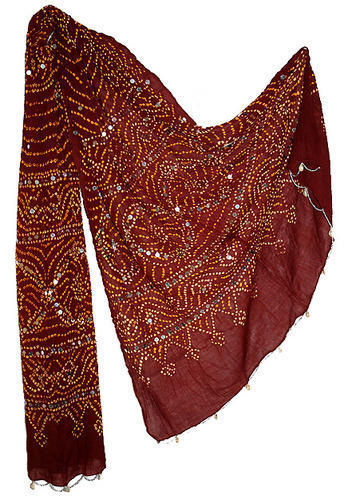 Indian Bandhej Cotton Stole Dupatta