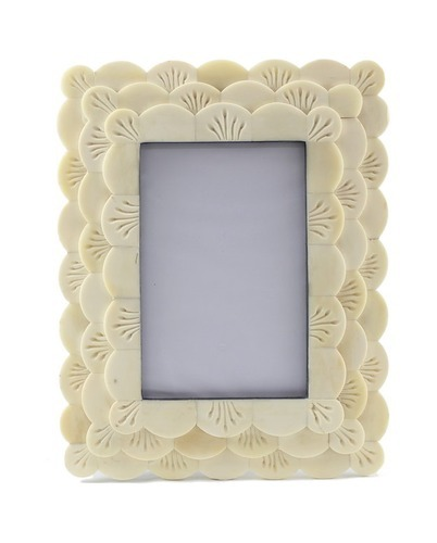 Hand Carved Bone Picture Frame