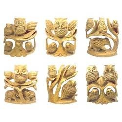 Wooden Owl Statues