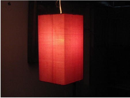 Square Cylinder Hanging Lamp