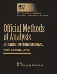 Official Methods of Analysis of AOAC International - 19th Ed