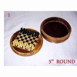 Round Wooden Chess