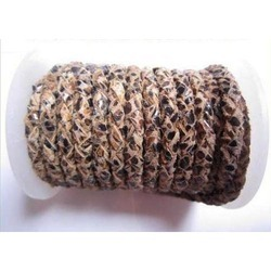 Reptile Braided Leather Cord