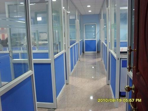 Aluminium Partition With Glasses Aluminum Glass