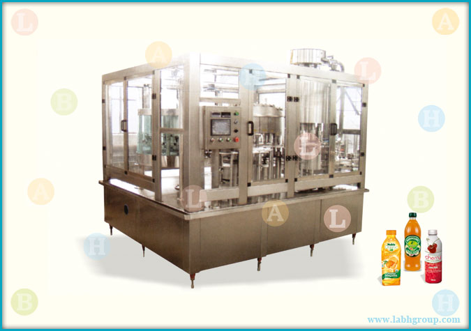 Automatic Bottle Rinsing Filling and Cap Sealing Equipment for Fruit Juice