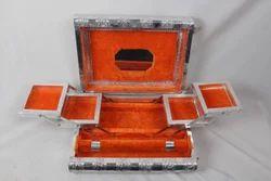 White Metal Bangle Box