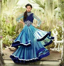 Exclusive Designer Semi Stitch Lehenga Sarees