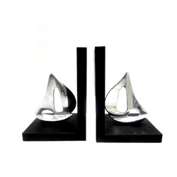 Aluminum Sailboat Bookend