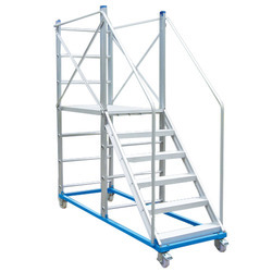 Aluminium Mobile Work Platform Ladder