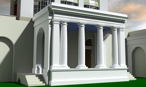 Front Elevation Of House With Pillar : Concrete pillar designs kerala houses home design and style