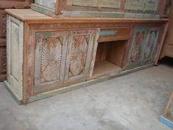 Rustic Carved Sideboard