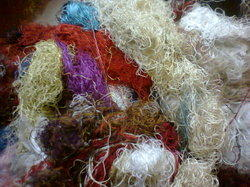 Silk Fiber Waste suitable for Textile Spinners, Crafters