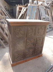 Wooden Carving Drawer Chest