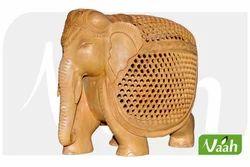 Vaah Wooden Jali Elephant
