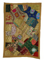 christmas zari work wall hanging