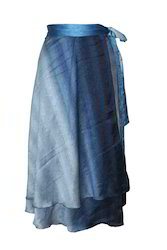 Magic Around Satin Wrap Skirt for Ladies