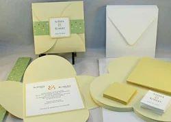 Custom Printed Handmade Paper Wedding Cards