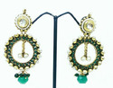Designer Green Earrings