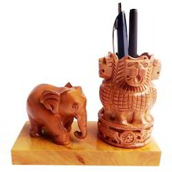 Wooden Ashoka Pen Holder