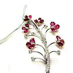 Diamond Pendent And Broach Jewellery