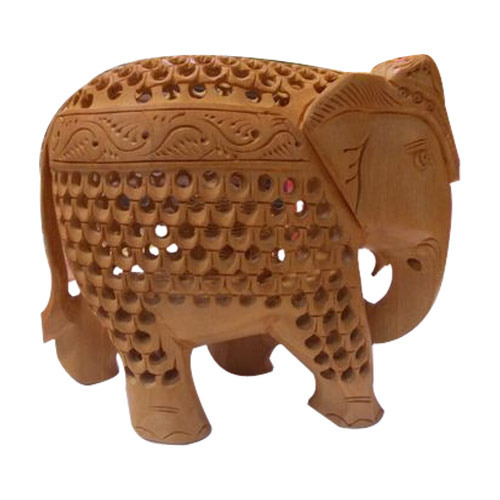 Wooden Handicraft Wooden Decorative Elephant Statue Manufacturer