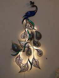 Home Decor Products decoration pieces for home Led Peacock Designer Wall Decor