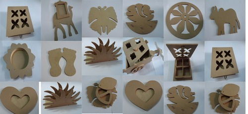 Wood cutouts for art lovers crayon painting brush